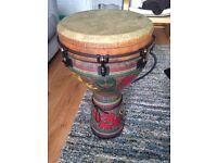 Remo 14 Inch Djembe Drum, Adinkra Fabric Finish