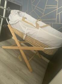 Moses Basket with stand included