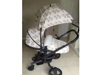 Silver Cross Surf Petals Special Edition travel system pushchair pram buggy with isofix base