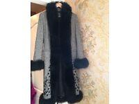 Women's fur coat vintage style