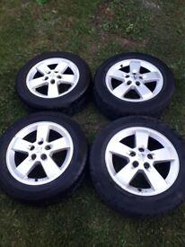 Peugeot original alloy wheels set with good tyres