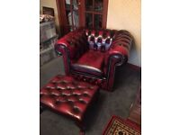 Chesterfield suite - 2 sofas, 2 chairs and 2 footstools