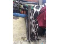 MARKET STALLS STEEL APPROX 24 FEET VARIOUS LENGTHS EXCELLENT CONDITION