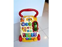 Vtech Sit-to-Stand First Steps Baby Learning Walker & Activity Centre