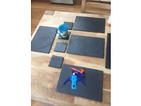 Slate Table Placemats and coasters