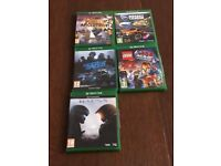 Xbox One, Kinnect, rechargable controllers and 5 games