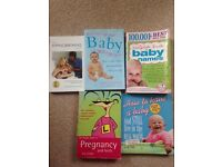 Huge selection of pregnancy, hypnobirthing, baby names, parenting books all in exc condition!