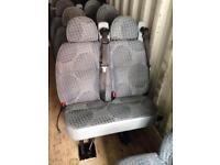Transit mini bus rear seats