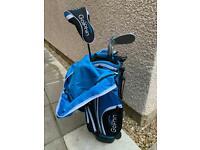 Kids GolPhin golf club set and bag, age 7-8
