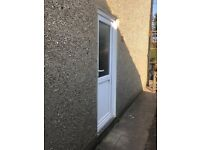 Used White UPVC Double Glazed Back Door (2 Years old)