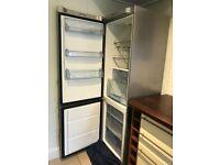 John Lewis, Fridge/Freezer JLSS1808, Stainless Steel, Freestanding 70/30 split