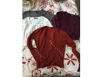 Bundle of 4 ladies long sleeve tops