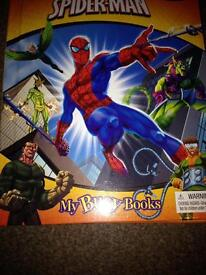 Marvel spider man book with figures map