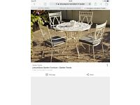 Outdoor table and 4 chairs brand new Leisuregrow Marrakech