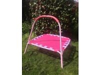 Toddler trampoline pink excellent condition £15