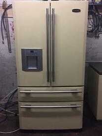 AGA rangemaster DXD910 fridge freezer American cream