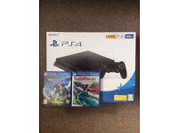 *NOW SOLD* BRAND NEW, SEALED PS4 500gb slim with two new games