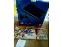 Playstation 3 plus 3 games box nearly new , looked after