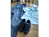 School clothes and pair of shoes, 4-5 year.Great condition