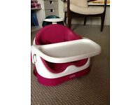 Mamas & Papas Bud Booster Seat - Raspberry - As New