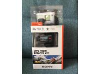 Sony 4K Action Camera with Live Remote Kit