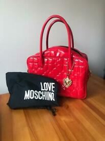 5c21a8743889 Vintage limited edition large quilted Love Moschino bag