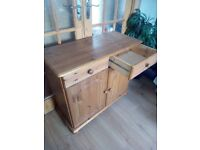 Pine sideboard with two drawers