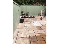 harvest sandstone patio slabs