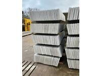 •NEW• 6X1 SMOOTH/ PLAIN REINFORCED CONCRETE GARDEN BASE PANELS / GRAVEL BOARDS