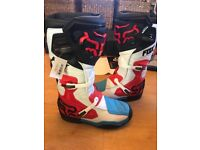 FOX motocross comp 8 boots size brand new with tags UK10,USA11,EUR45 NEVER WORN!