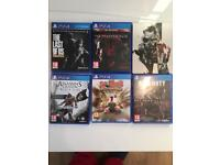 5x PS4 PlayStation 4 games. Perfect Christmas present