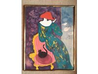 'Madeleine' - Beautiful limited edition lithograph by French artist Linda Le Kinff