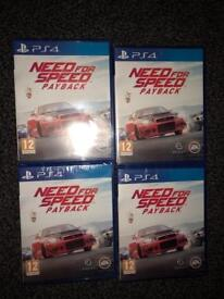 PS4 need for speed payback new sealed