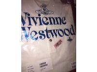 Mens Vivienne Westwood Short Sleeve white polo size large