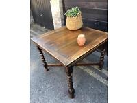 SOLID ENGLISH VINTAGE TABLE FREE DELIVERY EXTENDABLE 🇬🇧