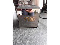 Sony Dual Alarm Clock Radio Mirror Finish Black