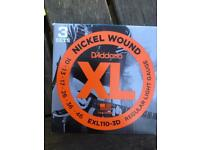 9 sets of electric guitar strings D'Addario exl110 ( 3 boxes ) postage or collection