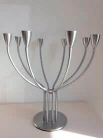 IKEA large brushed metal candle holder modern candelabra candle holder