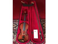Stringers of Edinburgh 3/4 Grade A Violin + 4/4-3/4 Wolf Secondo Chin Rest