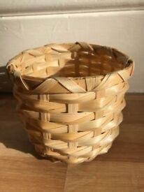 2x Plant pot, bamboo