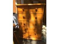 Pine chest of drawers