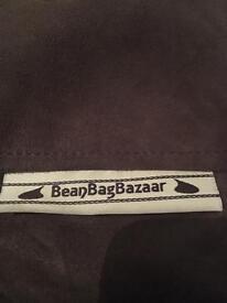 Large Brown Suede Bean Bag