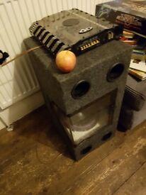 300w amp and sub base bin Sheffield