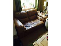Free Italian leather 2 seat sofa