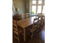 8 wooden dining room chairs