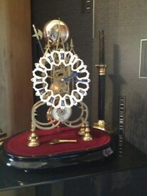 VICTORIAN PASSING STRIKE SKELETON CLOCK STUNNING