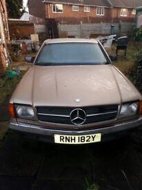 Mercedes 380/190/270/300/320/220/500 SEC Rare Coupe Classic