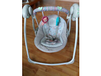 Bright Starts Cosy Kingdom Portable Baby Swing £40 or o.n.o.