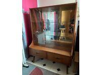 Mid Century display cabinet. Cupboard