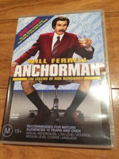 Anchorman The Legend of Ron Burgundy DVD Mount Hutton Lake Macquarie Area Preview